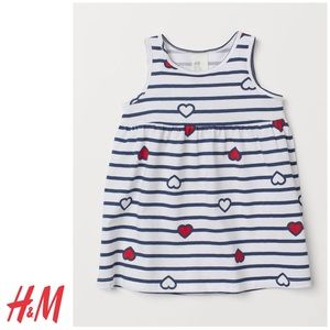 NWT H&M Girls Summer Dress with Hearts 18-24mo